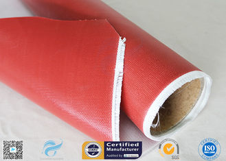China 1.5m Wide 0.45mm Silicone Coated Fiberglass Fabric 80g Single Side Chemical Resist supplier