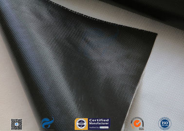 China Black Silicone Coated Fiberglass Fabric For Thermal Insulation Blanket supplier