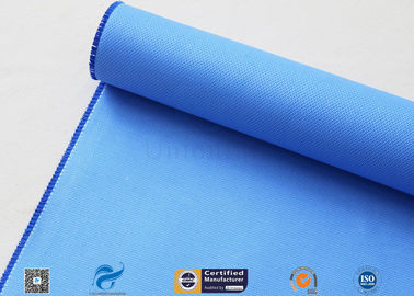 China Blue 0.5mm Rubber Silicone Coated Fiberglass Fabric For Fire Resistant Blanket supplier