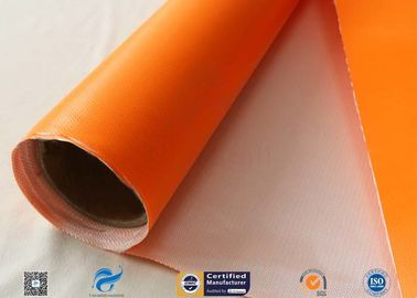 China One Side Orange Fire Blanket silicone coated fiberglass cloth 500GSM 0.5mm Thickness supplier