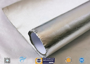Heat Reflect Aluminium Foil Silver Coated Fabric For Industry 0.85mm Thickness