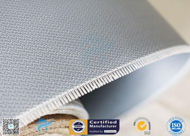 China Double - Sides 1.5m*50m 0.45mm Gray Silicone Coated Fiberglass Fabric Welding Curtain supplier