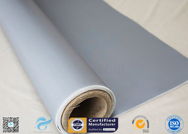 China Thermal Insulation 260℃ E - Type Glass 20.8oz Silicone Coated Fiberglass Fabric supplier