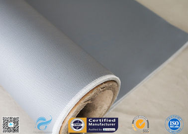 China E - Glass Electrical Resistant 80/80g 0.45mm Silicone Coated Fiberglass Fabric Gray supplier