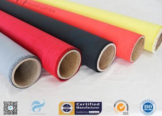 China Welding Curtain High Intensity 40/40g Satin Weave Silicone Coated Fiberglass Fabric supplier