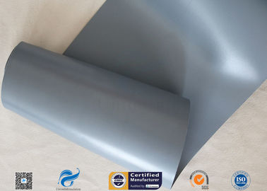 China Waterproof Grey PVC Coated Fiberglass Fabric 280gsm 0.25mm 39 Inches supplier
