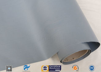 "0.3mm 39"" Gray PVC Coated Fiberglass Fabric For Flexible Air Ducting"