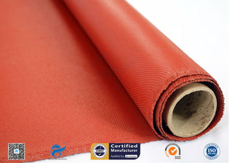 Insulation Fireproof Silicone Coated Glass Fabric , Silicone Impregnated Fabric