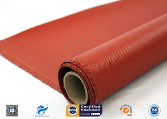 0.9mm Silicone Coated Fiberglass Fabric For Welding Tear Resistance