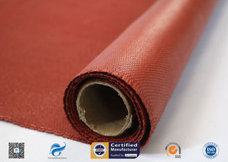 China Heat Resistance Fiberglass Fabric Roll / Silicone Coated Fiberglass Fire Protection Cloth supplier