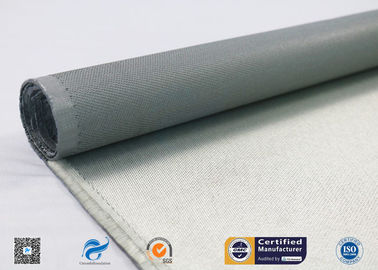 One Side Silicone Coated Glass Cloth , 100g E Glass Silicone Coated Polyester Fabric
