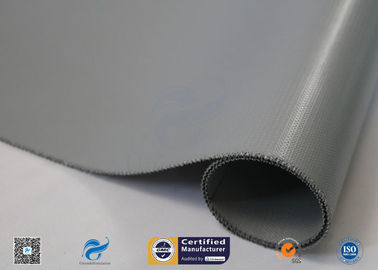 China Silver Grey Liquid Silicone Coated Fiberglass Fabric E - Glass 0.45mm supplier