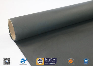 China 510g E-Glass Black Silicone Coated Fiberglass Fabric Insulation Fireproof  Cloth supplier