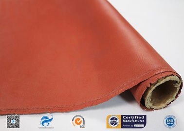 China Red Silicone Coated High Silica Fiberglass Fabric Insulation Materials supplier