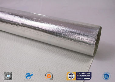 China One Side Silver Aluminum Foil Coated Fiberglass Fabric For Fireproof supplier