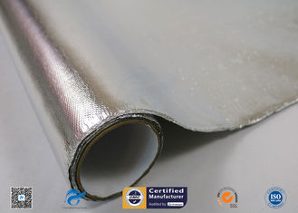 China Aluminum Coated Fiberglass Fabric For Fireproof 260 ℃ High Temperature supplier