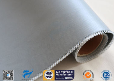 China 17oz Double Sided Silicone Coating Fiberglass Fabric Anti Fire Satin Weave supplier