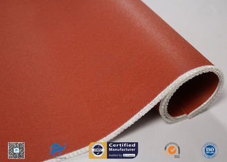 E Glass Fiberglass Fabric Coated With Red Silicone High Temperature Resistance
