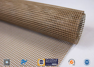 China Non-Stick PTFE Coated Fiberglass Open Mesh Conveyor Belt For Food Drying supplier