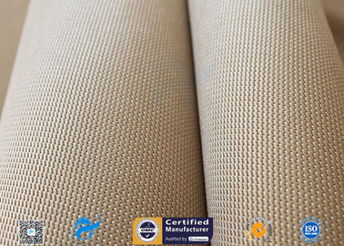 "Brown 31oz Silica Fabric 800℃ Working Temperature 0.05"" Thick Fireproof Curtain"