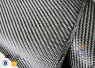 China 3K 200g 0.3mm Twill Weave Carbon Fiber Fabric For Reinforcement , Thermal Insulator Materials factory