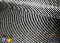 China 3K 200g 0.3mm Twill Weave Silver Coated Fabric Carbon Fiber Fabric factory