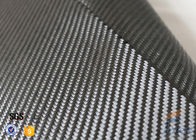 China 3K 240g/m2 Carbon Fiber Cloth Silver Coated Fabric Engineering Decoration factory