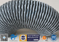 China PVC Coated Fiberglass Fabric Flexible Air Ducts 200MM Grey Waterproof Fireproof factory