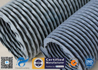 "China 6"" Grey PVC Coated Fiberglass Fabric Flexible Air Duct For Fume Extraction factory"