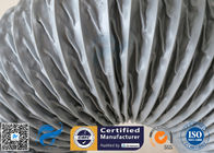 China HVAC Flexible Air Duct PVC Coated Fiberglass Fabric Grey 200MM Hose Waterproof factory