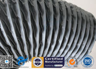 China PVC Coated Fiberglass Fabric Grey Flexible Ventilation Air Ducting Vent Hose factory