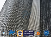 China PTFE Coated Fiberglass Mesh Fabric 4X4MM 580GSM Black Conveyor Belt Roll factory
