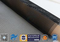 China 4*4 PTFE Coated Fiberglass Mesh Fabric 580GSM Black Tortilla Press Conveyor Belt factory