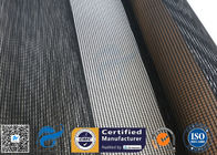 China 4x4MM PTFE Coated Fiberglass Mesh Fabric 17OZ Black Drying Textile Conveyor Belt factory