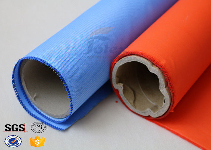 Blue Rubber Silicone Coated Fiberglass Fabric Thermal