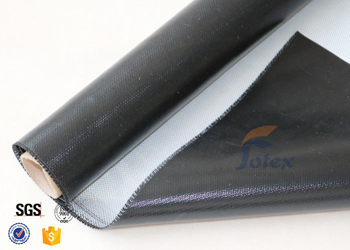 Mm black silicone rubber coated fiberglass cloth