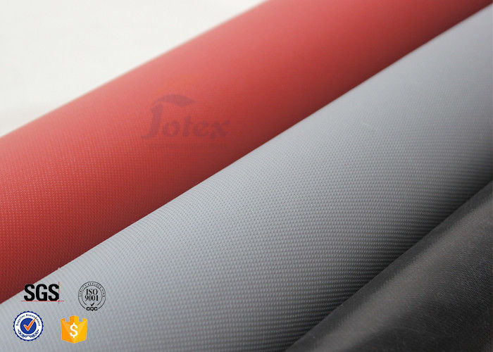 Red silicone coated high silica cloth fiberglass fabric for Is fiberglass heat resistant