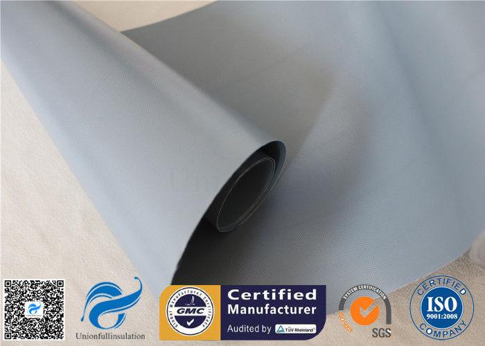 Waterproof 7628 0 25mm Grey PVC Woven Fabric Coated