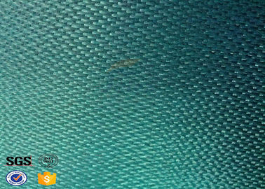 China Green 430gsm Glass Fibre Cloth Coated PVC for Wedling Blanket Fireproof factory