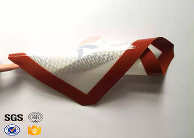 China Anti Slip Red Non Stick Silicone Baking Mat for Cooking Easy Cleaning factory