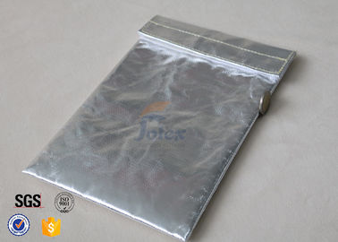 China Silver Fiberglass Fabric Fireproof Document Bag For Photos SDS TDS factory