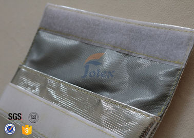 China Silver + Grey Inside Fiberglass Fabric Fireproof Document Bag Portable factory