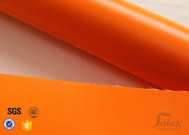 China Thermal Insulation Materials 0.45mm One Side Orange Silicone Coated Fiberglass Fabric distributor