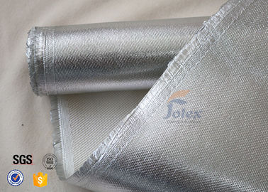 China 800℃ 700g 0.8mm Silver Coated High Silica Fabric Cloth For Heat Resistant factory