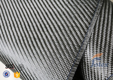 China 3K 200g 0.3mm Twill Weave Carbon Fiber Fabric For Reinforcement , Thermal Insulator Materials distributor
