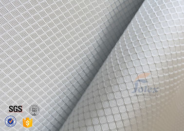 China 220g 0.2mm Checked Aluminized Fiberglass Fabric For Decoration factory