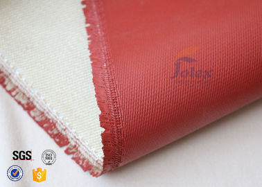 China 1200℃ Red Silicone Coated High Silica Fabric For Thermal Insulation Materials factory