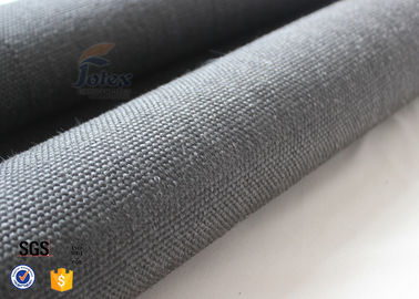 China 800gsm Black Vermiculite Coated Fiberglass Fabric Thermal Insulation Materials factory