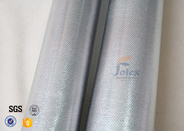 China 0.8mm Silver Coated High Silica Fabric For Fire Blanket / Curtain factory