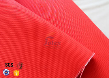 China Anti Acid 480gsm 0.45mm Fiberglass Fire Blanket Red With Acrylic Coated factory